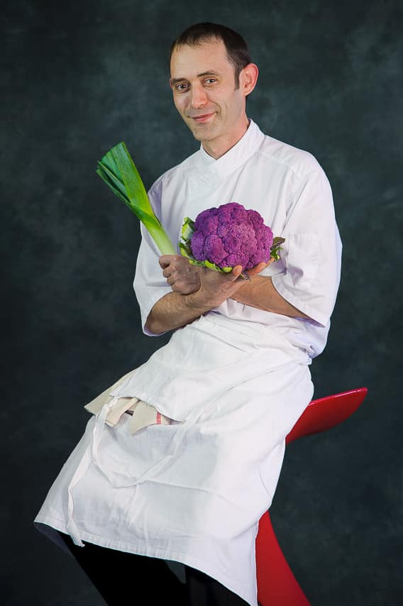Portrait du chef Nicolas Le Luyer