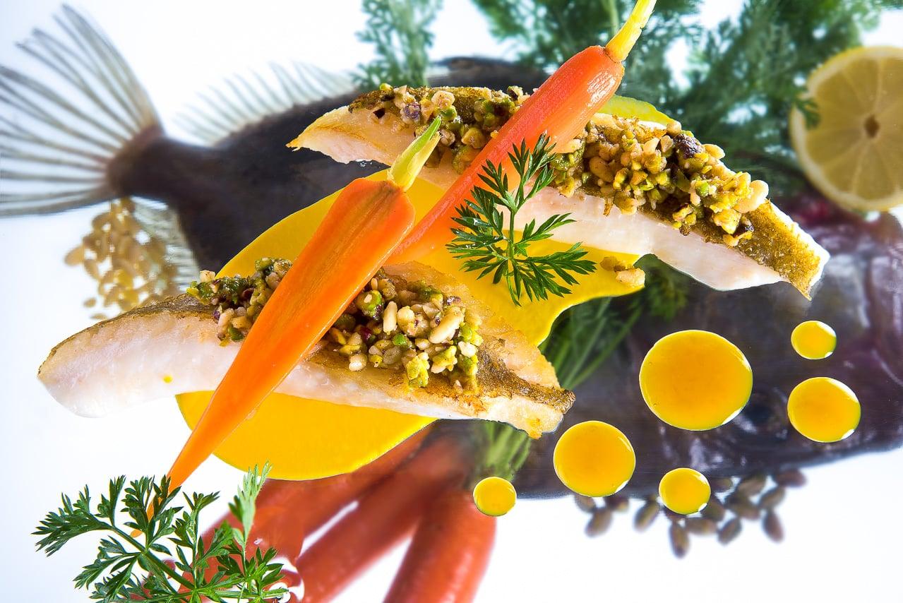 Plat de poisson et carotte - la table de mon père